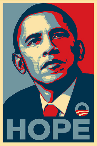 Shepard Fairey, Obama Hope poster