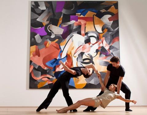 Dancers Kellie Epperheimer, Alejandro Piris-Nino, and Kevin Shannon. © Todd Rosenberg Photography