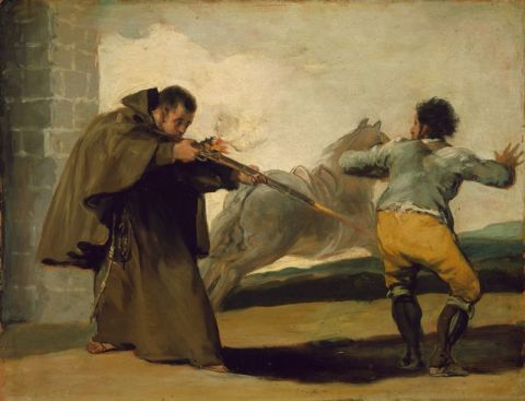 Friar Pedro Shoots El Maragato as His Horse Runs Off, c. 1806